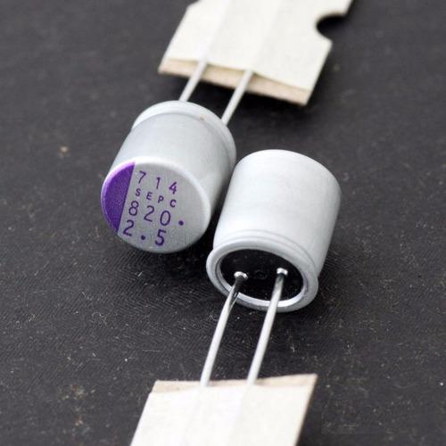 condensadores capacitores solidos t/madre-video 820uf x 2.5v
