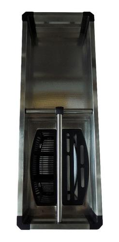 condimentero organizador 15cm acero inoxidable dos niveles