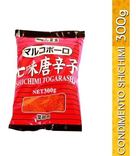 condimento japonés shichimi togarashi s&b 300g