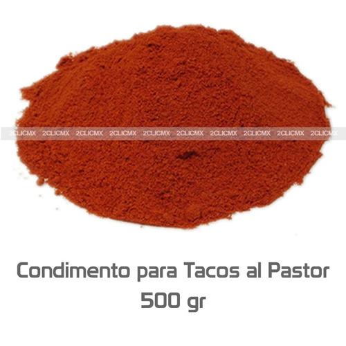 condimento para tacos al pastor 500 gramos 2clicmx