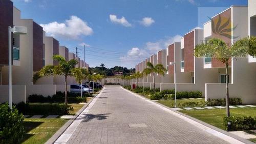 condomínio fechado com 3 suítes no eusébio - ca0526