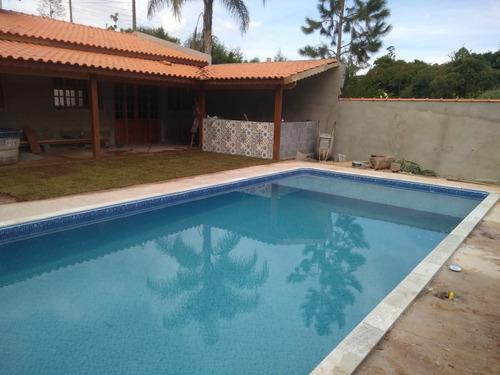 condomínio fechado ibiúna 1.000 mts casa, piscina e gramado!