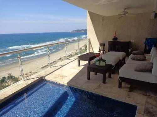 condominio palmeiras, sobre playa y gran vista en diamante