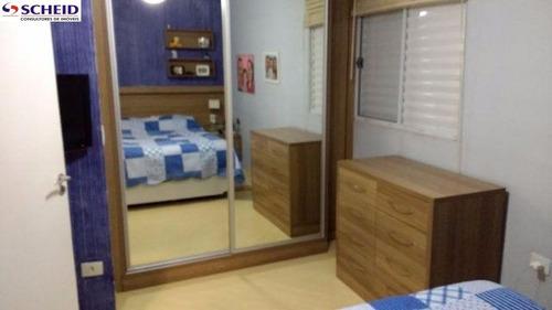 condominio, v.s.catarina, 67m²,armarios, 2 dorm, coz. amer, 1 vaga - mc3308