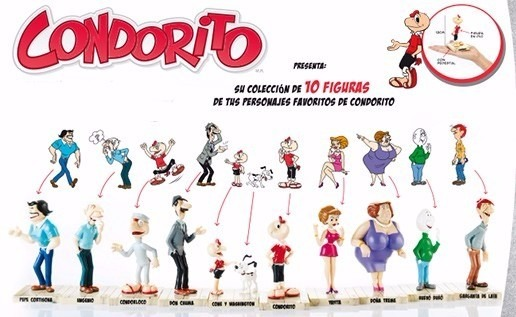 Condorito Coleccion 11 Figuras Originales De Tradebox