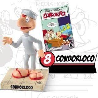 condorito figura nueva condorloco c/revista, goma 11 cm.
