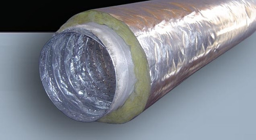 conducto flexible aislado 25 cm diametro 7,5 metros largo