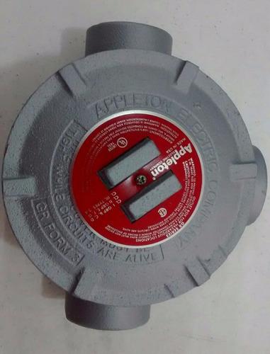 condulet  grt  de 1 1/2 a prueba de explosion  c/tapa roja