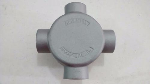 condulet  grx  de 1 1/4  de aluminio c/tapa roja