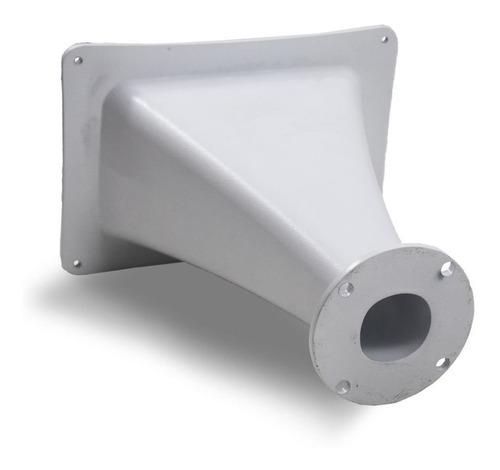 cone corneta hl 25-50 trio aluminio boca quadrada preta