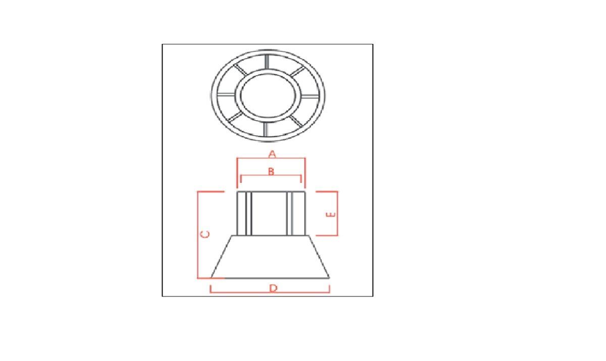 f5e2fbd47 Cone Encosto 3/4 Forma Ferragem (pacote C/ 1000 Pçs) Jeruel - R$ 119 ...