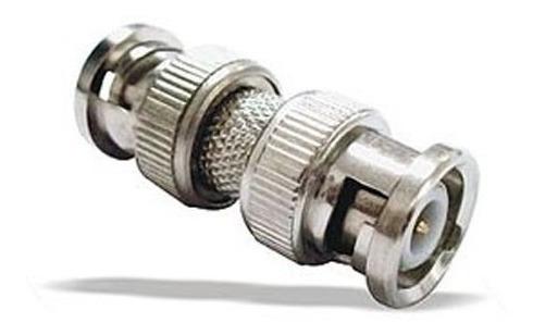 conector adaptador bnc macho macho apto coaxial