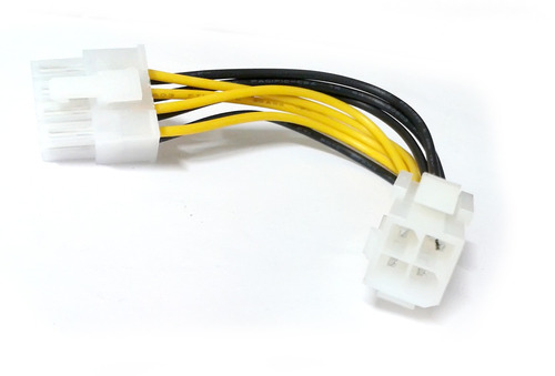 conector adaptador de fuente de poder de 4 pin a 8 pin
