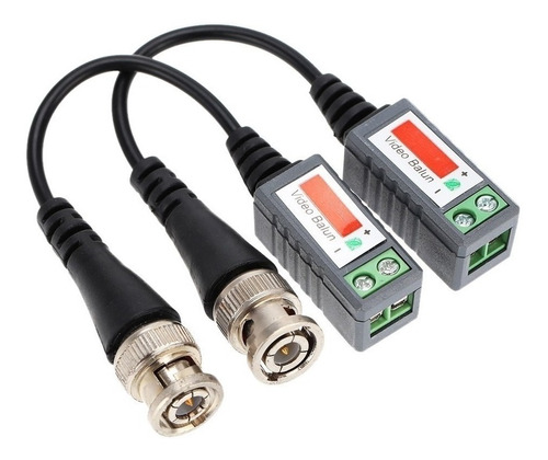 conector balun p/camaras c/cable x 2p