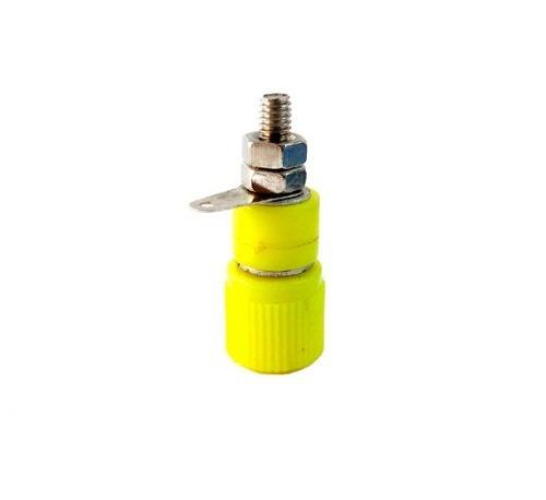 conector banana para chasis 3416 corto color amarillo