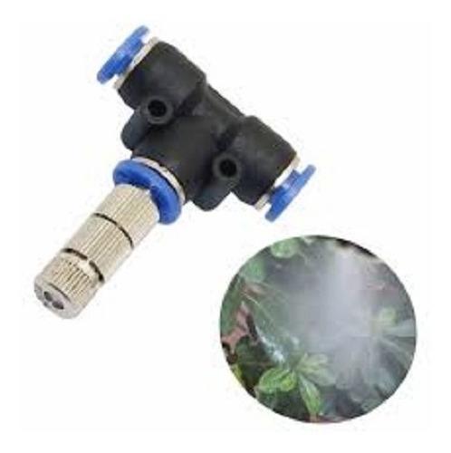 conector base t + boquilla aspersora para túnel sanitización