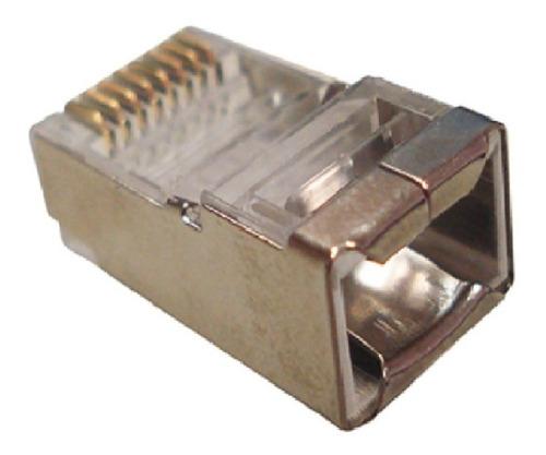 conector blindado cat-6 macho rj-45 pct 100 pcs s guia 23awg