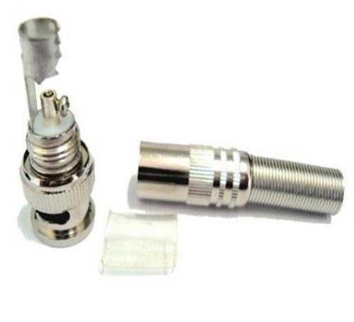 conector bnc kit 4 peças cftv macho mola parafuso 4mm camera