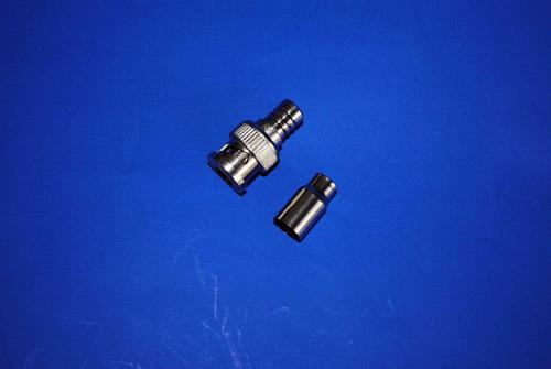 conector bnc macho crimpeable para cctv  10pzas  f10