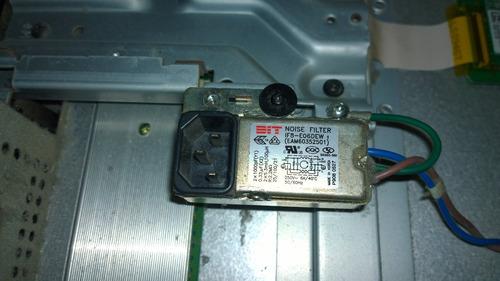 conector cabo entrada de energia tv lg 42pq30r
