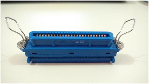 conector cabo flat / adaptador scsi 50 vias