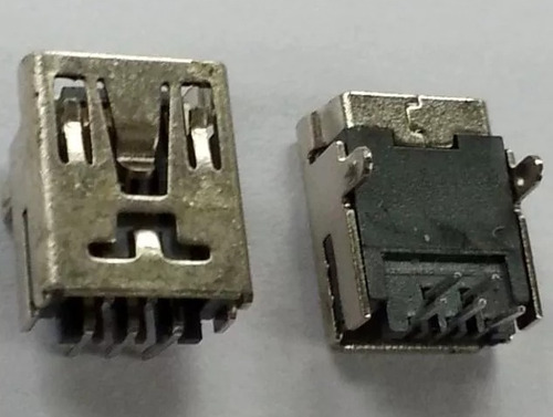 conector carga mini usb 5 vias 90º gps v3 tablet cel kit c10