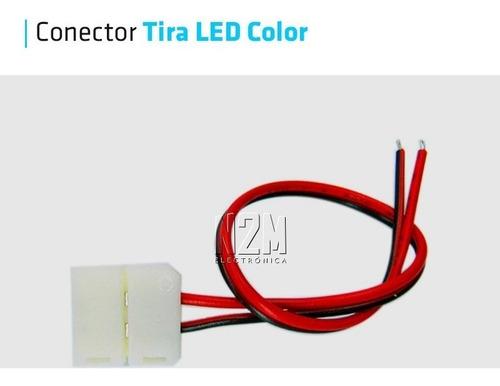 conector con cables para tira led 5050 rgb y colores