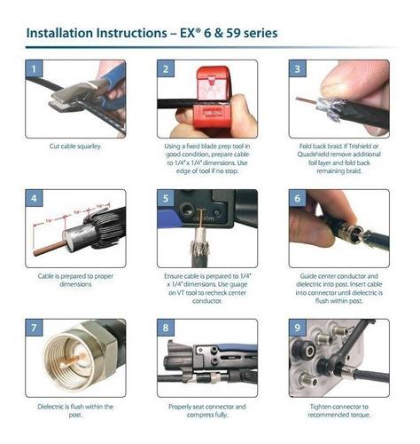 conector conectores rg6 ppc compresion 50 unidades