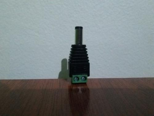 conector dc con bornera macho para utp plug cctv