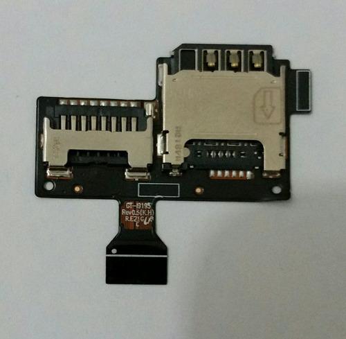 conector de chip sim card i9192/i9195/i9190 s4 mini original
