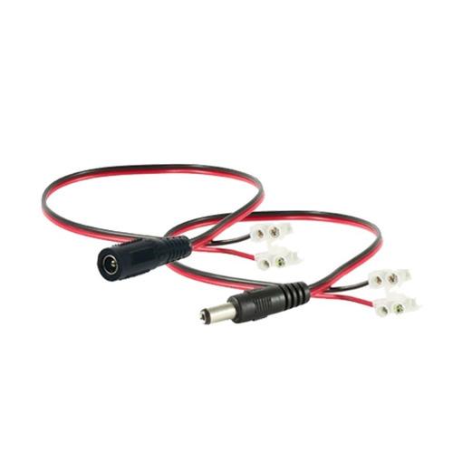 conector de corriente para cámara de cctv macho o hembra