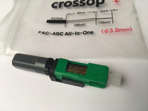 conector de fibra optica sc/apc (3.0mm) crossop fac-asc 30pz
