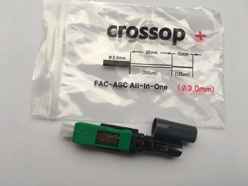 conector de fibra optica sc/apc (3.0mm) crossop fac-asc 50pz