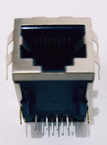conector de red rj45 hembra soldable caja 60 piezas