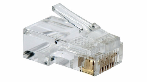 conector de red rj45 utp cat 5e redes camaras por unidad.
