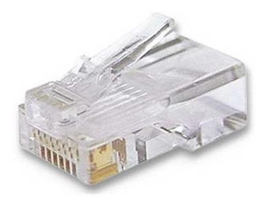 conector de red rj45 utp cat5e internet redes paq 50 piezas