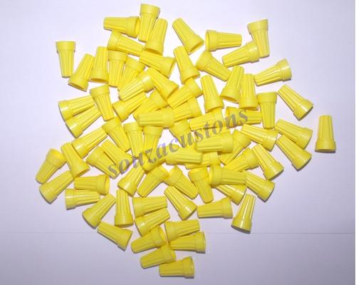 conector de torção amarelo   100 peças 2,5 á 8 mm²