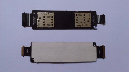 conector do chip flex asus zenfone 5 a501 chip sim card