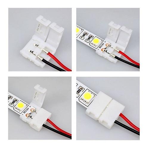 conector doble tira led monocromática sin cable 3528 2835