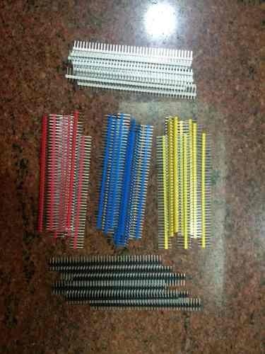 conector electronico pin header macho de 2.54mm en 40x1