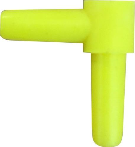 conector en l de 2x2cm para peceras x 10 unid