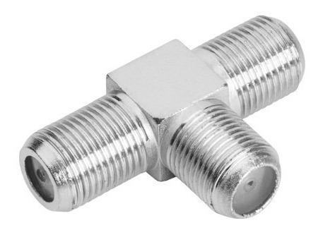 conector f / coaxial tipo t 3 fêmeas
