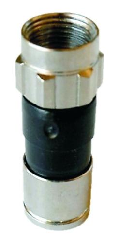 conector f macho de compresion para rg-6 pack 10 pzas