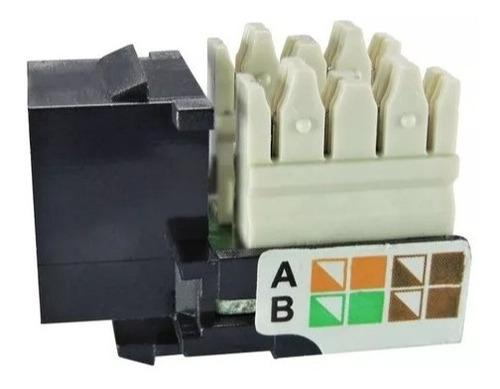 conector femea rj45 keystone cat 5e preto kit 1000 unidades
