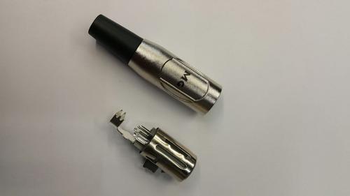 conector ficha cannon hembra p/ armar cables p/ unidad canon
