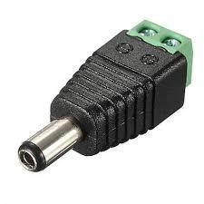 conector ficha jack power macho plug 5.5x2.1 mm a bornera