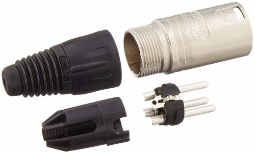 conector ficha neutrik nc3mx-d macho a cable xlr 3 pines