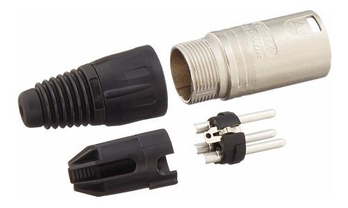 conector ficha neutrik nc3mx-d macho a cable xlr 3 pines
