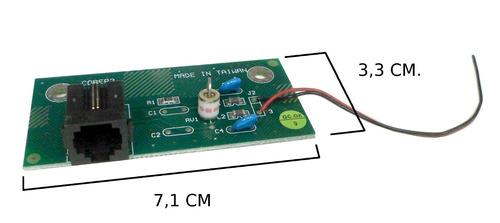 conector ficha rj11 (8u) 2 contactos para chasis , e3040