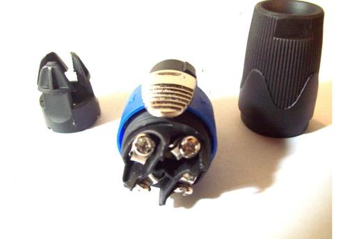 conector ficha speakon 4 contactos para cable bafle esdj